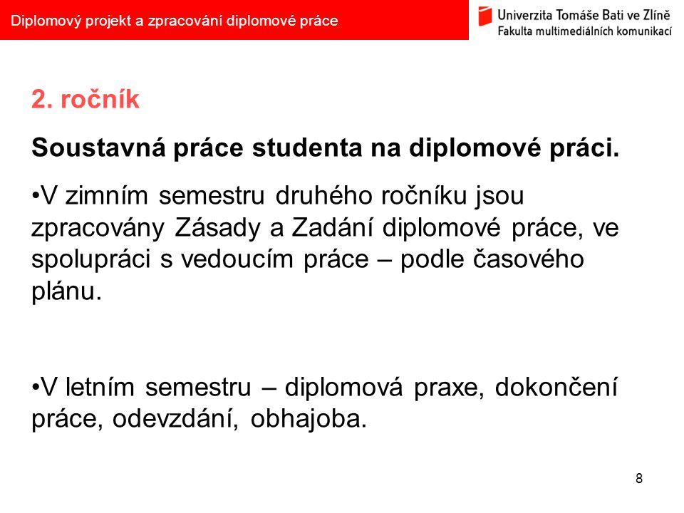 8 Diplomový projekt a zpracování diplomové práce 2.