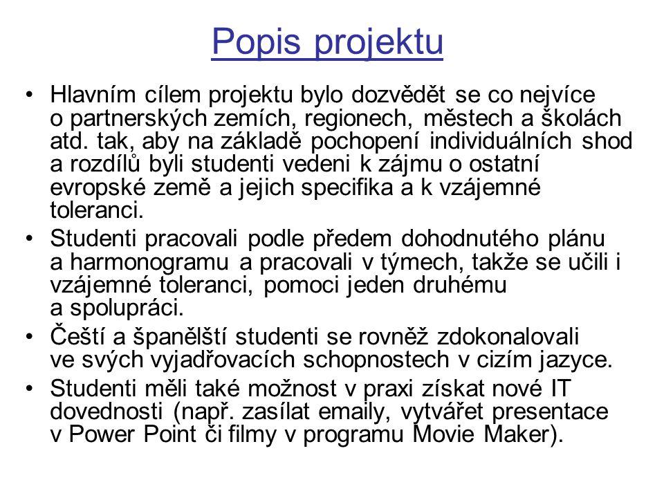 Postup PRVNÍ ČÁST Žáci se nejprve představili prostřednictvím prezentací.