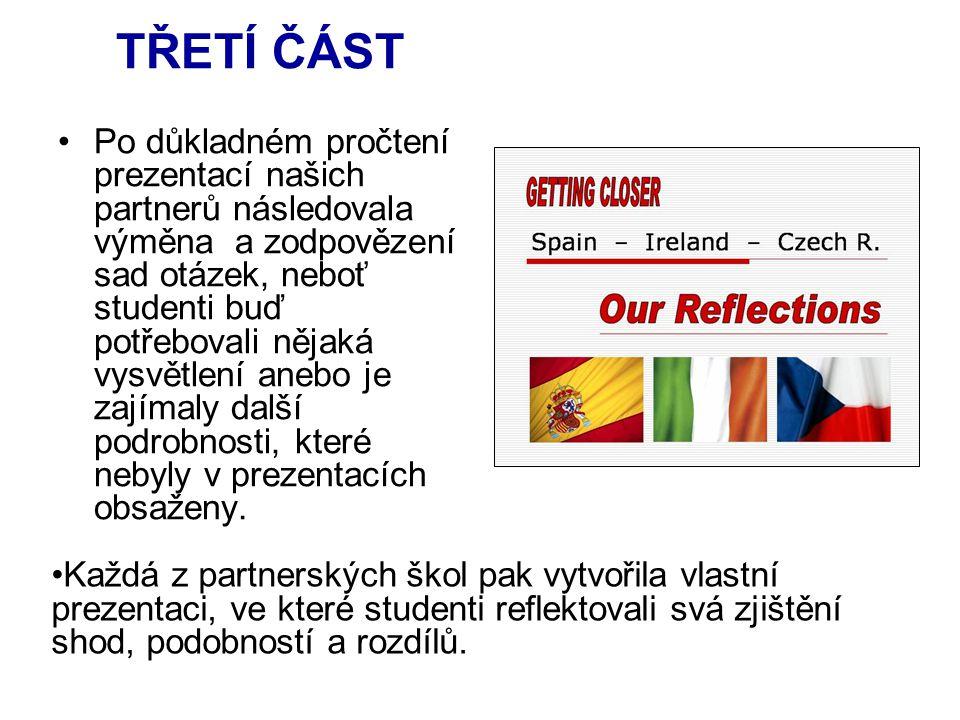 Potom byl vytvořen závěrečný kvíz o všech třech zemích a především jedna společná závěrečná prezentace shrnující všechny výsledky.