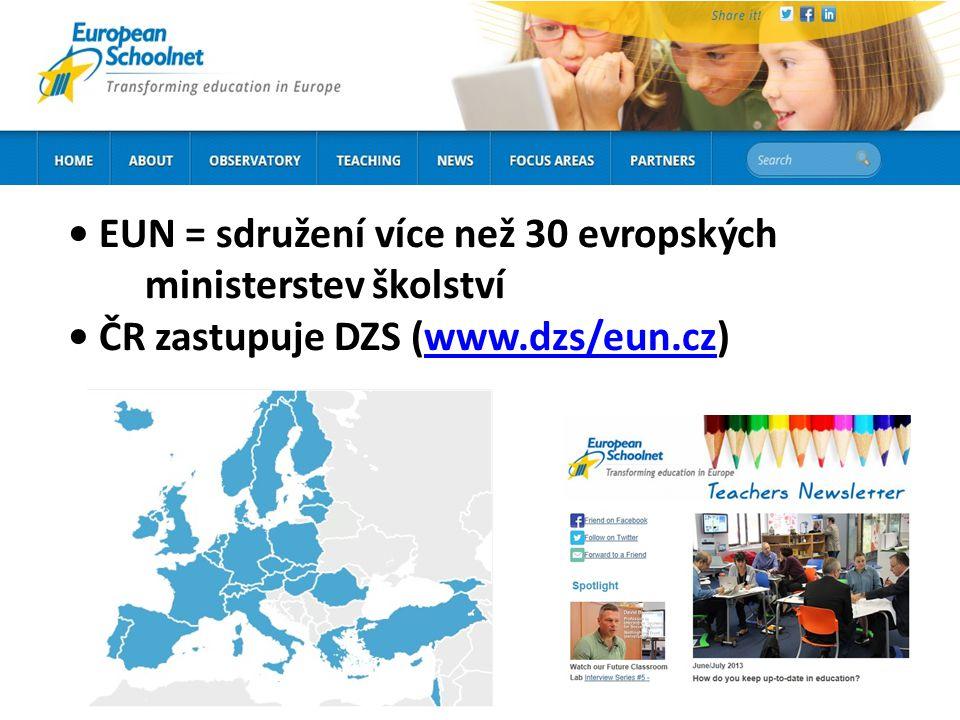 EUN = sdružení více než 30 evropských ministerstev školství ČR zastupuje DZS (www.dzs/eun.cz)www.dzs/eun.cz