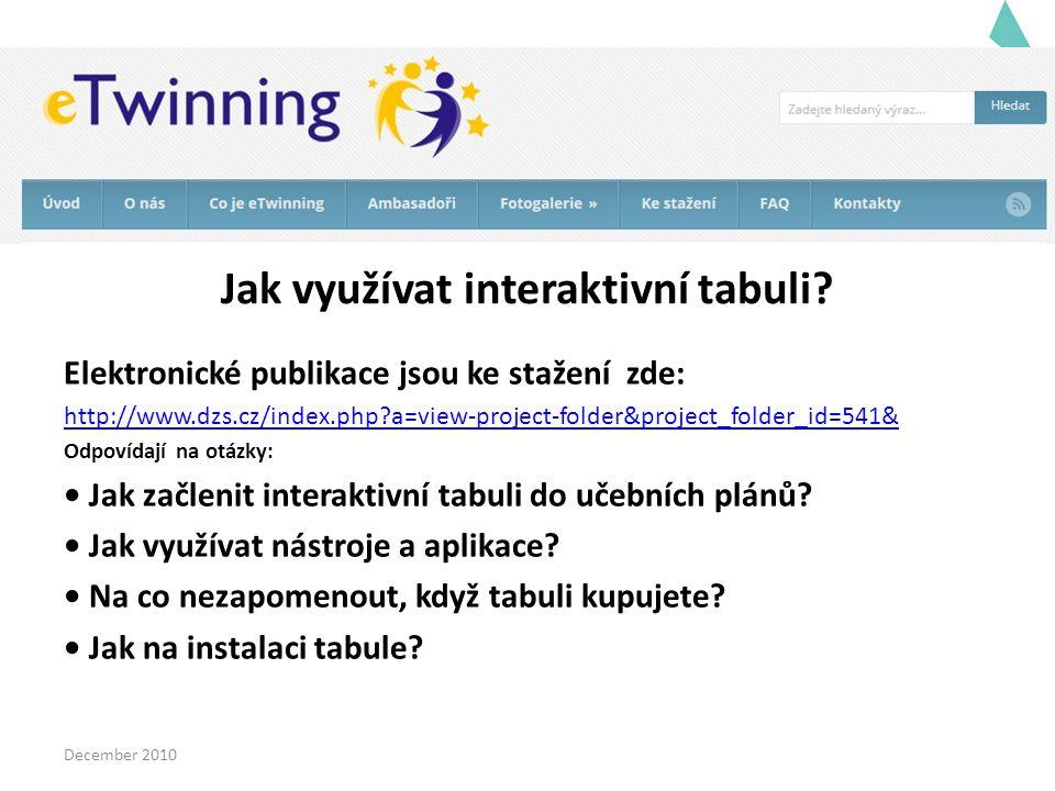 Jak využívat interaktivní tabuli? Elektronické publikace jsou ke stažení zde: http://www.dzs.cz/index.php?a=view-project-folder&project_folder_id=541&