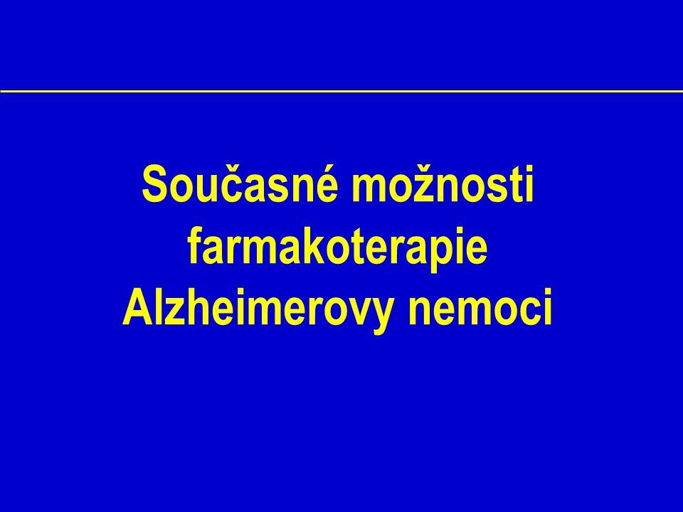 Současné možnosti farmakoterapie Alzheimerovy nemoci