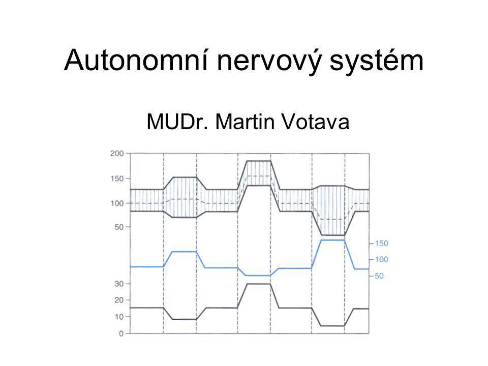 Autonomní nervový systém MUDr. Martin Votava