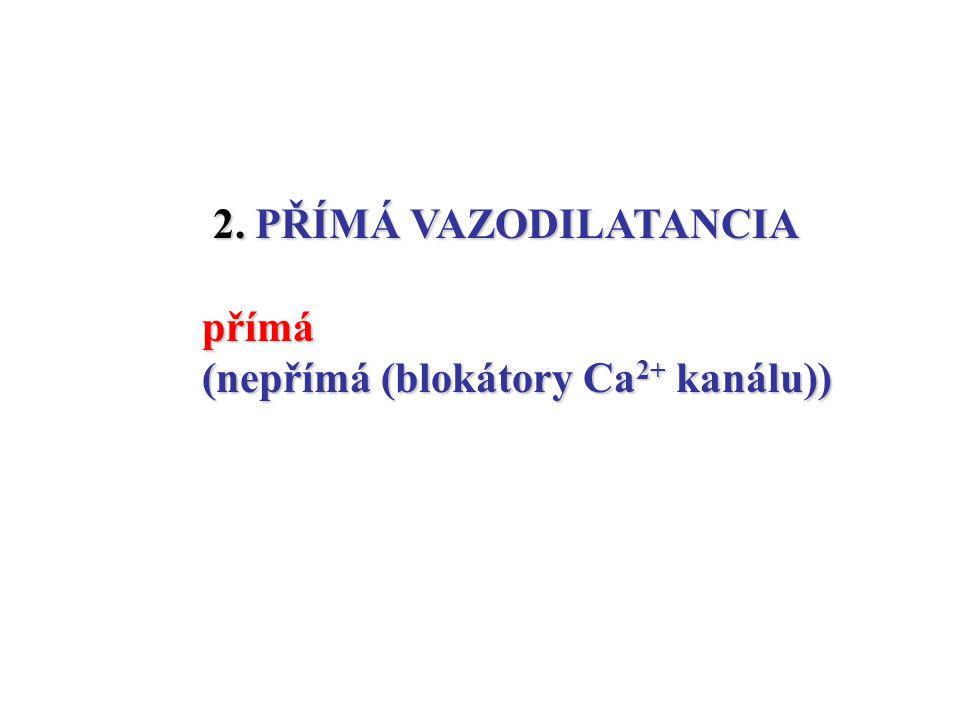 2. PŘÍMÁ VAZODILATANCIA 2. PŘÍMÁ VAZODILATANCIApřímá (nepřímá (blokátory Ca 2+ kanálu))