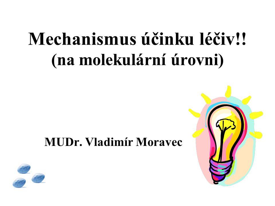 Mechanismus účinku léčiv!! (na molekulární úrovni) MUDr. Vladimír Moravec