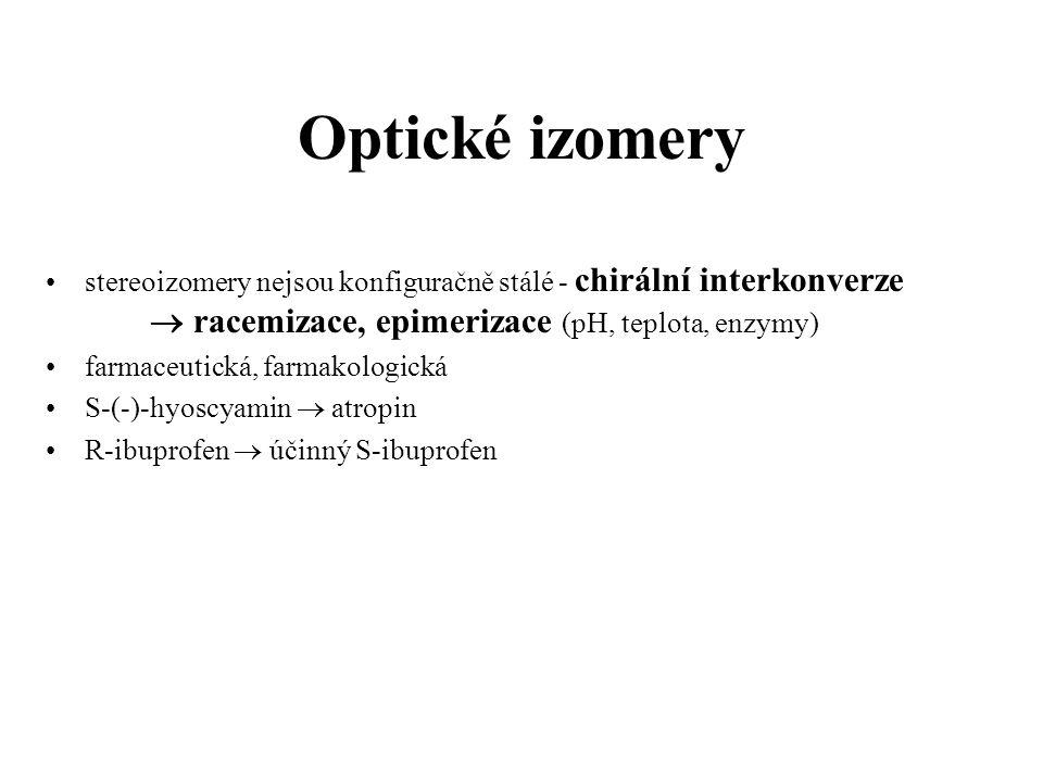 Optické izomery opačné úč.