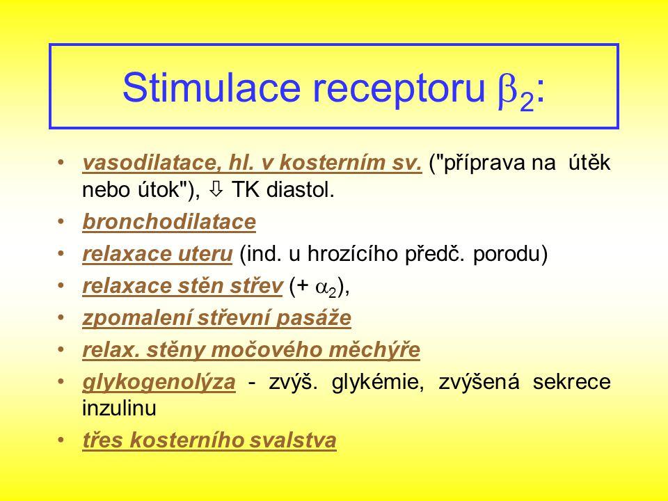 vasodilatace, hl. v kosterním sv. (