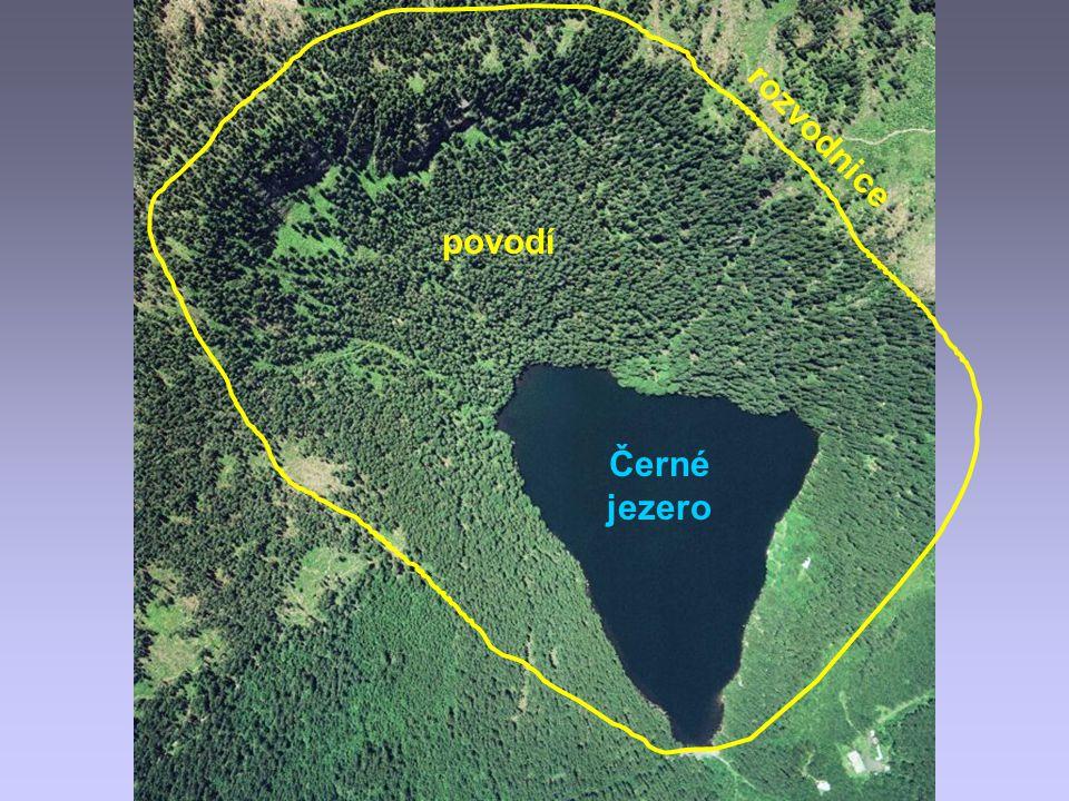 Černé jezero rozvodnice povodí