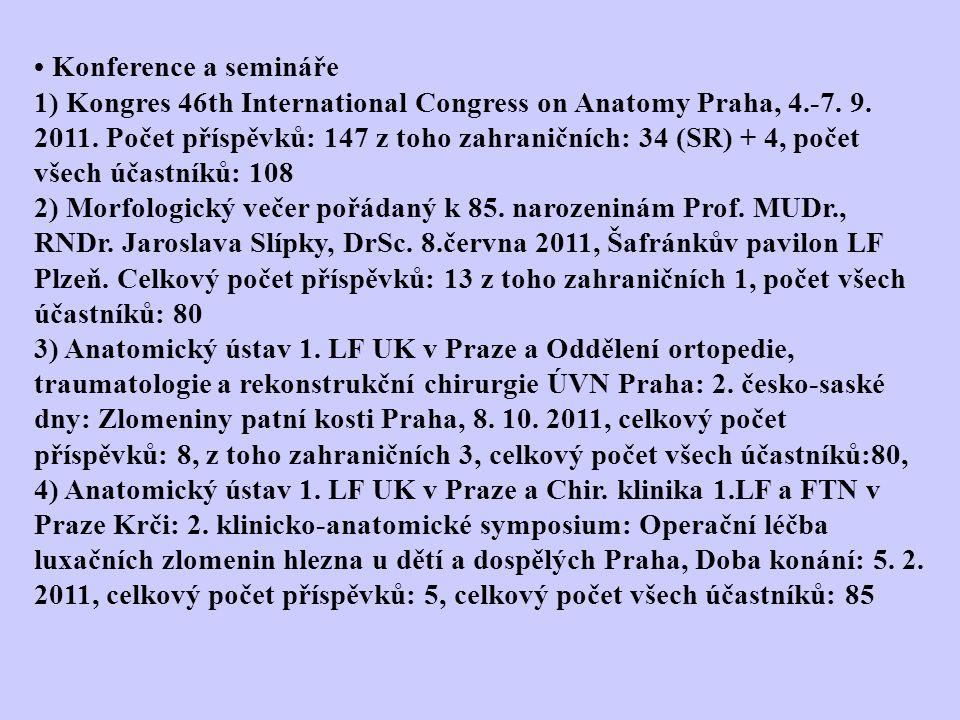 5) Slavnostní přednáškové odpoledne u příležitosti životního jubilea Prof.