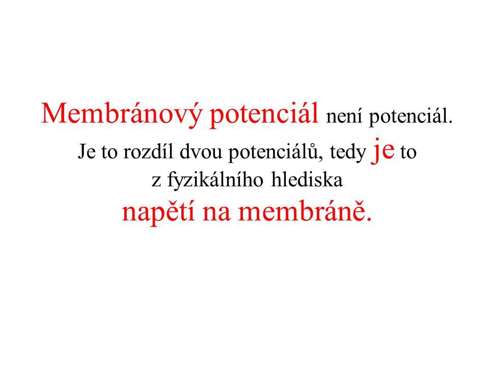 Membránový potenciál není potenciál.