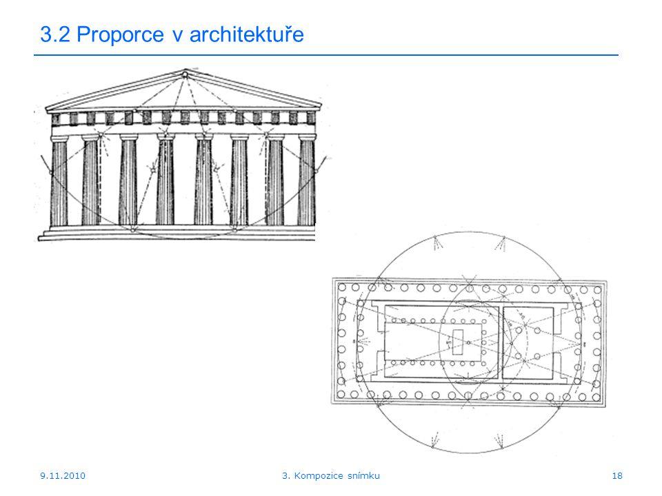 9.11.2010 3.2 Proporce v architektuře 183. Kompozice snímku