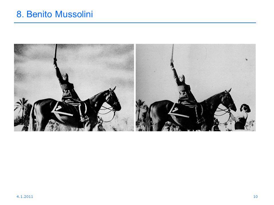 4.1.201110 8. Benito Mussolini
