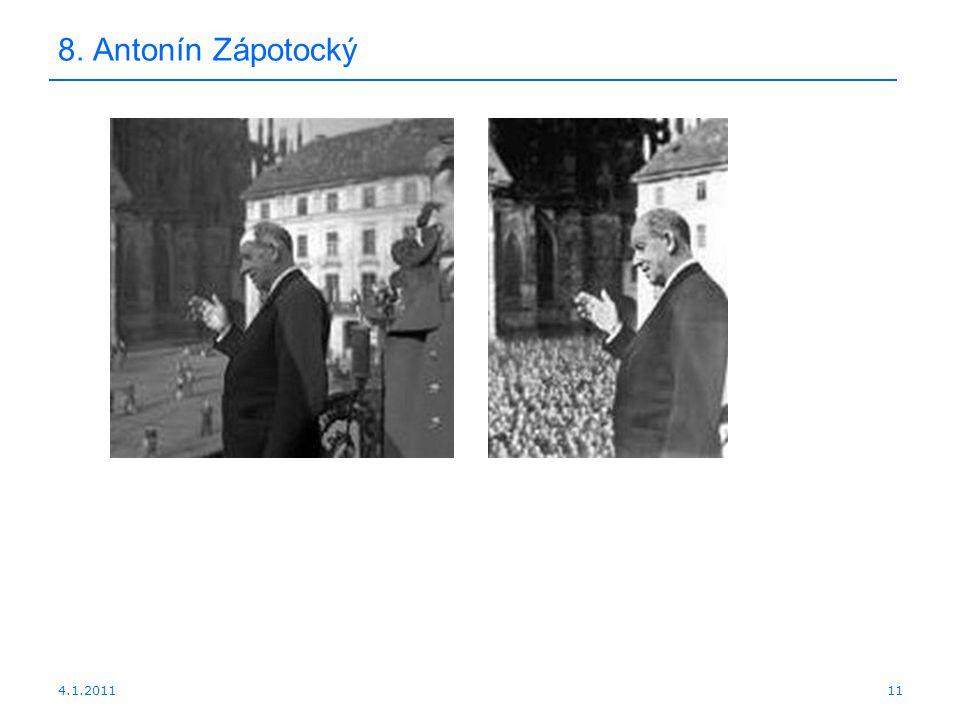 4.1.201111 8. Antonín Zápotocký
