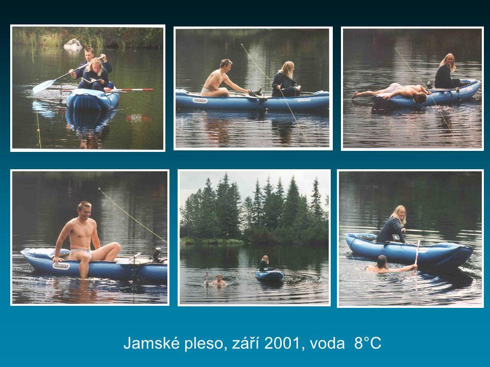 Jamské pleso, září 2001, voda 8°C