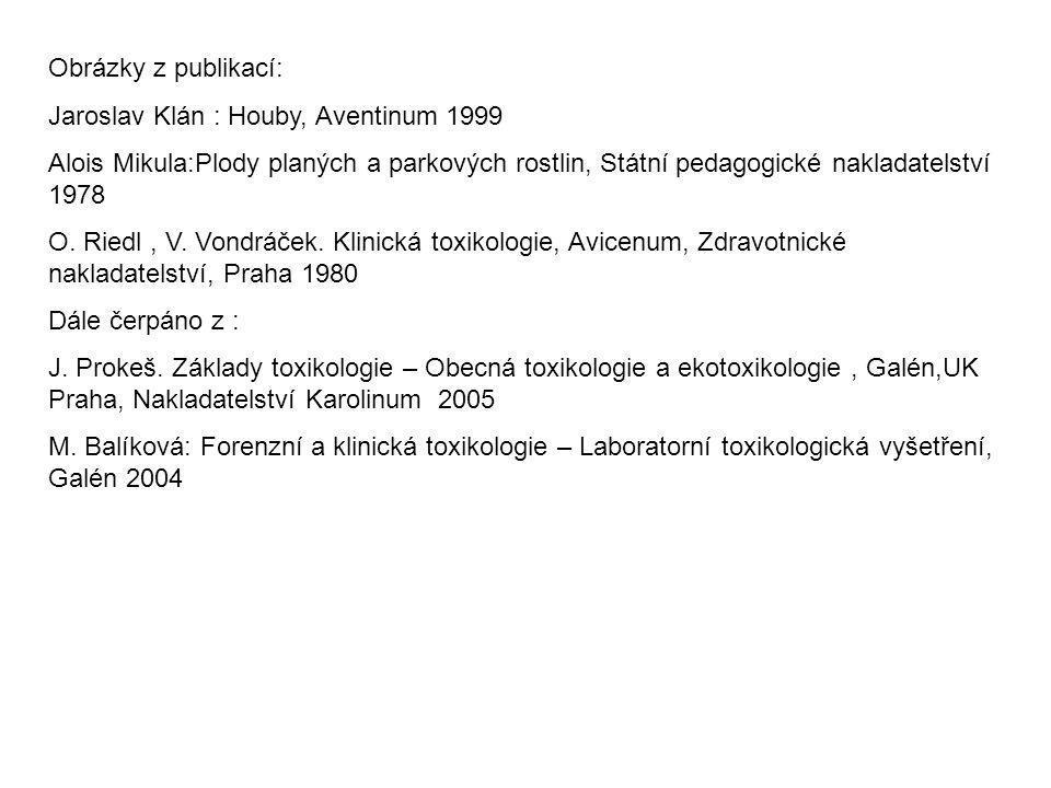 Obrázky z publikací: Jaroslav Klán : Houby, Aventinum 1999 Alois Mikula:Plody planých a parkových rostlin, Státní pedagogické nakladatelství 1978 O. R