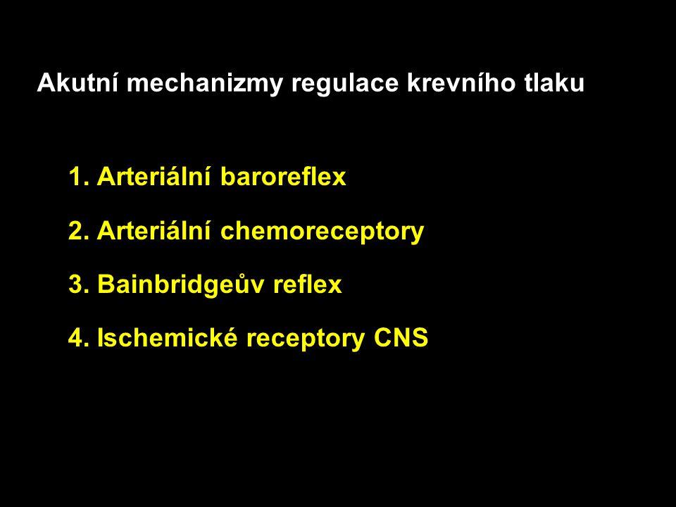 Baroreceptory Chemoreceptory Relaxace arterií Ischemické reakce CNS Tlakově-natriuretický mechanizmus ledvin Aldosteron Přesun tekutiny z plazmy 8 !.