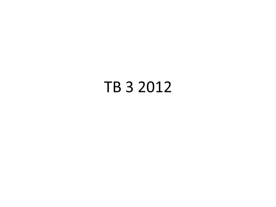 TB 3 2012