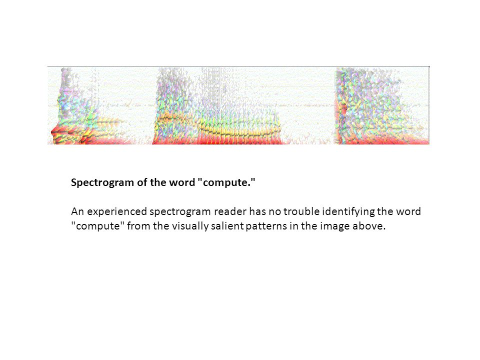 Spectrogram of the word