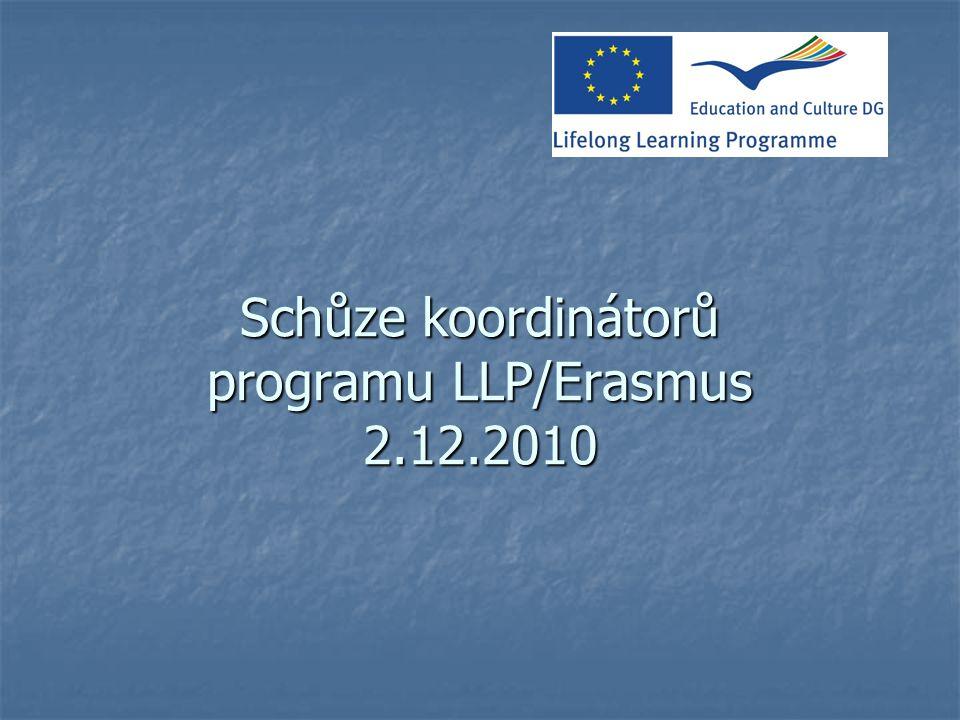 Schůze koordinátorů programu LLP/Erasmus 2.12.2010