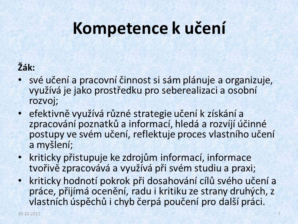 Základní pojmy: Výchova, vzdělávání, vzdělání, edukace podle: Průcha, J., Walterová, E., Mareš, J.: Pedagogický slovník.