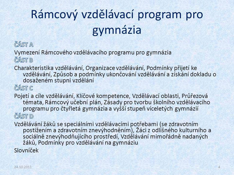 Rámcový vzdělávací program pro gymnázia 24.10.20114