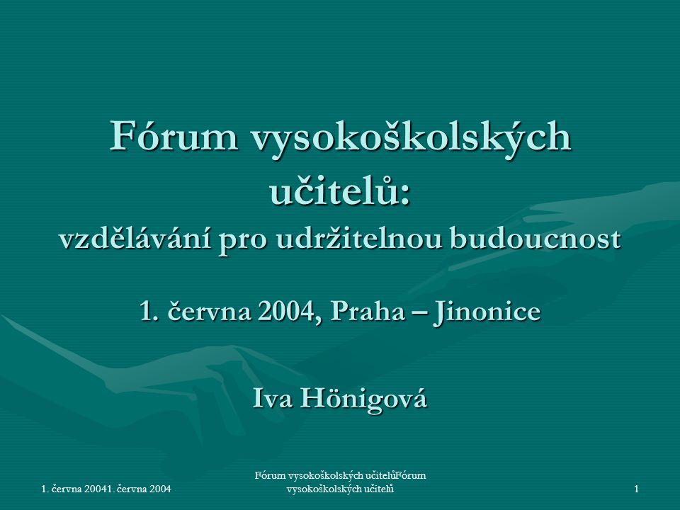 1.června 2004Fórum vysokoškolských učitelů2 Databáze literatury I.