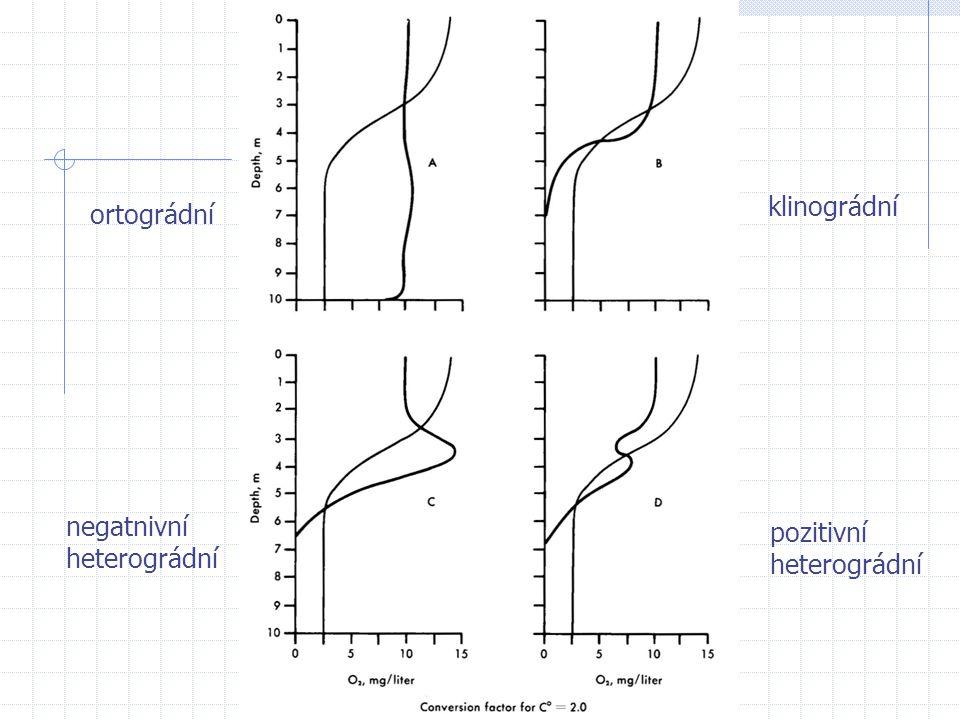 ortográdní klinográdní negatnivní heterográdní pozitivní heterográdní