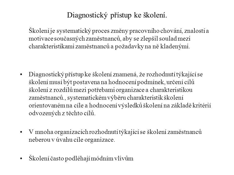 Diagnostický přístup ke školení: