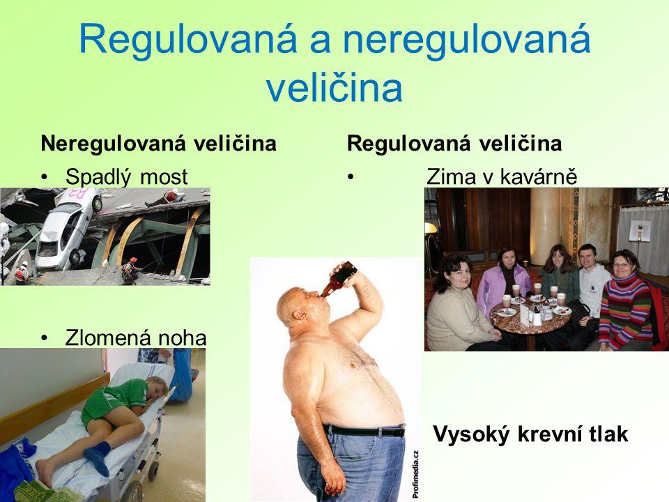 Regulovaná a neregulovaná veličina Neregulovaná veličina Spadlý most Zlomená noha Regulovaná veličina Zima v kavárně Vysoký krevní tlak