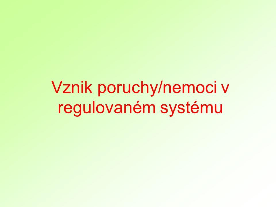 Vznik poruchy/nemoci v regulovaném systému