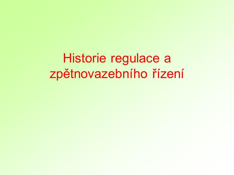 Historie regulace a zpětnovazebního řízení