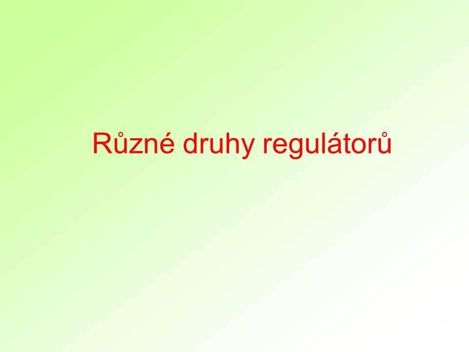 Různé druhy regulátorů