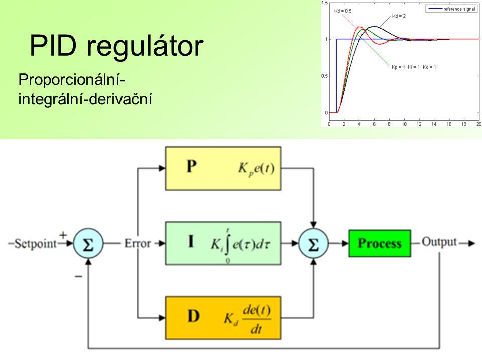 PID regulátor Proporcionální- integrální-derivační