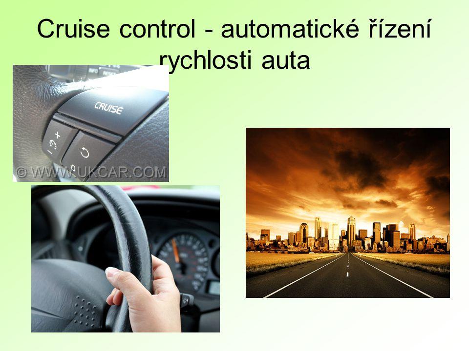 Cruise control - automatické řízení rychlosti auta