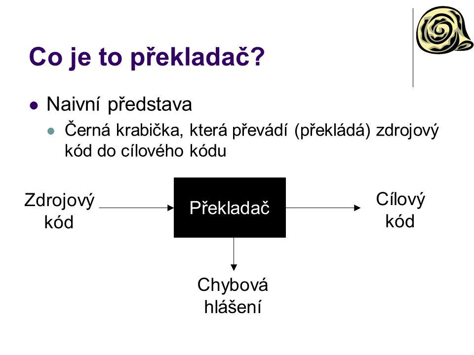 Co je to překladač.