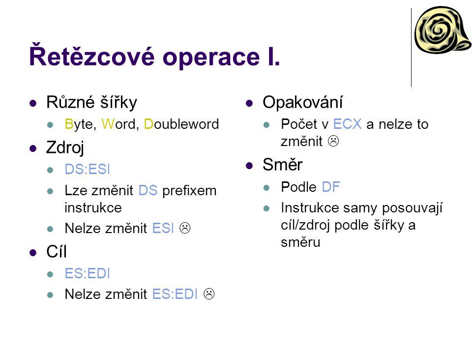 Řetězcové operace I.