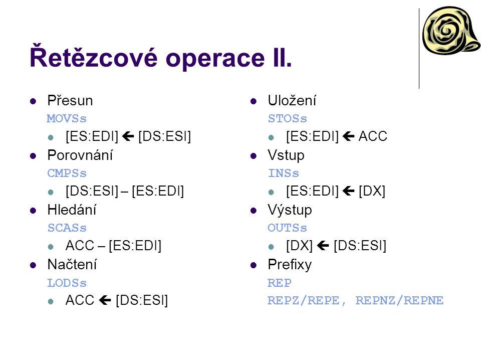 Řetězcové operace II.