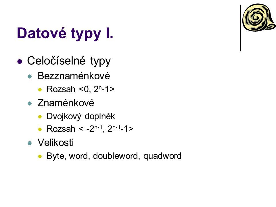 Datové typy I.
