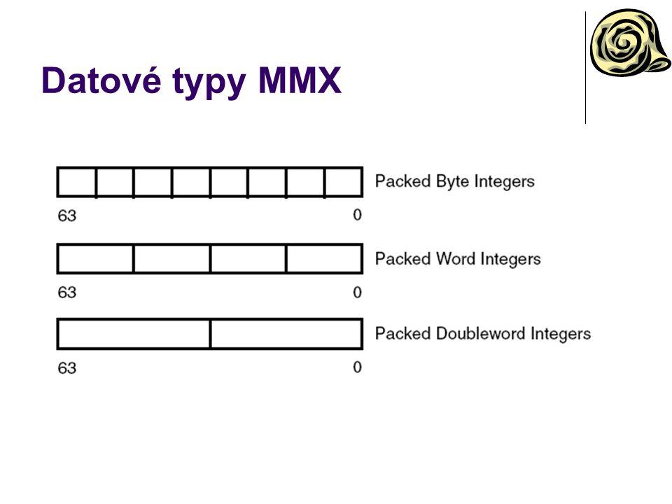 Datové typy MMX