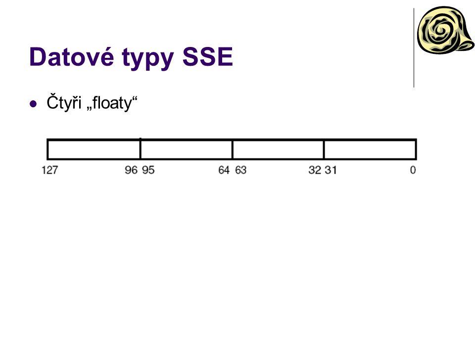 """Datové typy SSE Čtyři """"floaty"""
