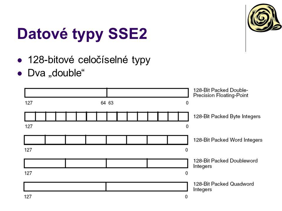 """Datové typy SSE2 128-bitové celočíselné typy Dva """"double"""