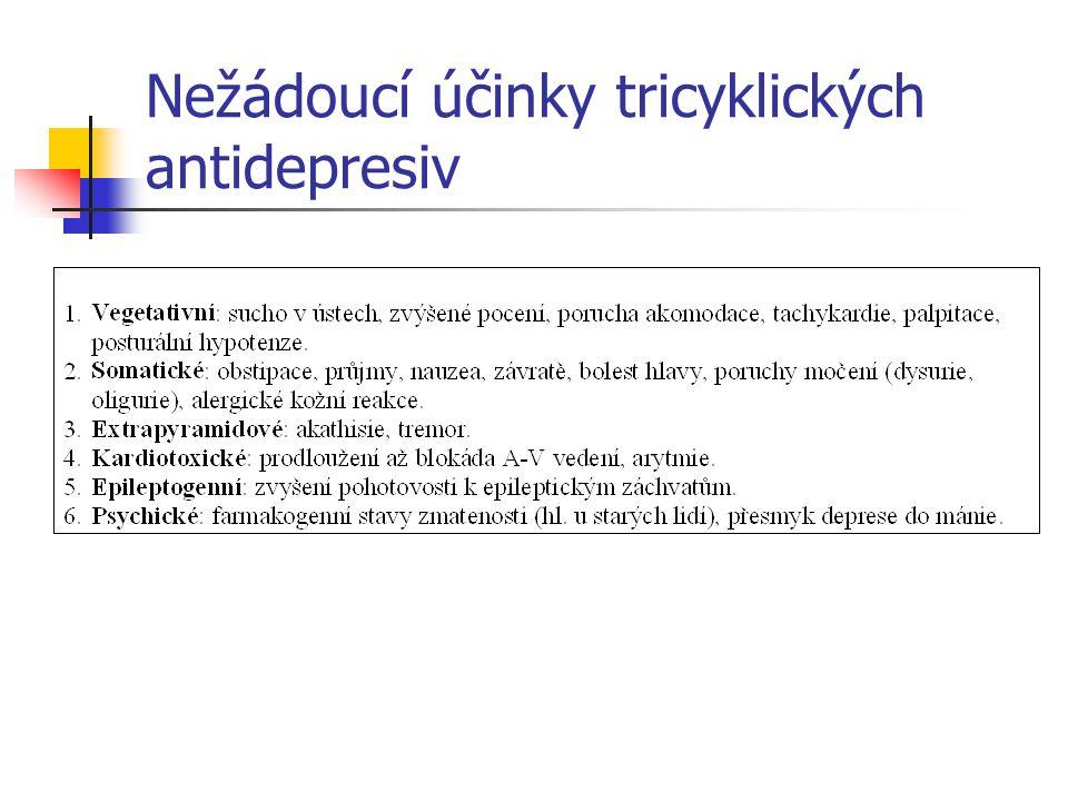 Nežádoucí účinky tricyklických antidepresiv