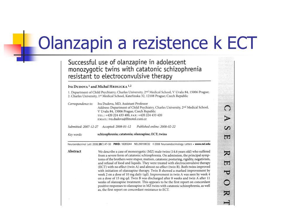 Olanzapin a rezistence k ECT