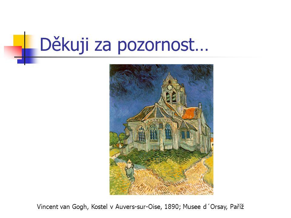 Děkuji za pozornost… Vincent van Gogh, Kostel v Auvers-sur-Oise, 1890; Musee d´Orsay, Paříž