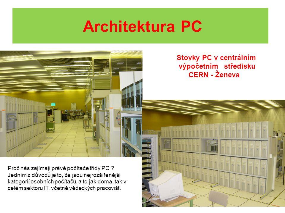 Stovky PC v centrálním výpočetním středisku CERN - Ženeva Proč nás zajímají právě počítače třídy PC ? Jedním z důvodů je to, že jsou nejrozšířenější k