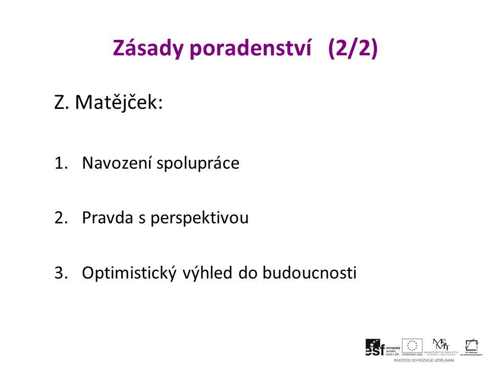 Zásady poradenství (2/2) Z.