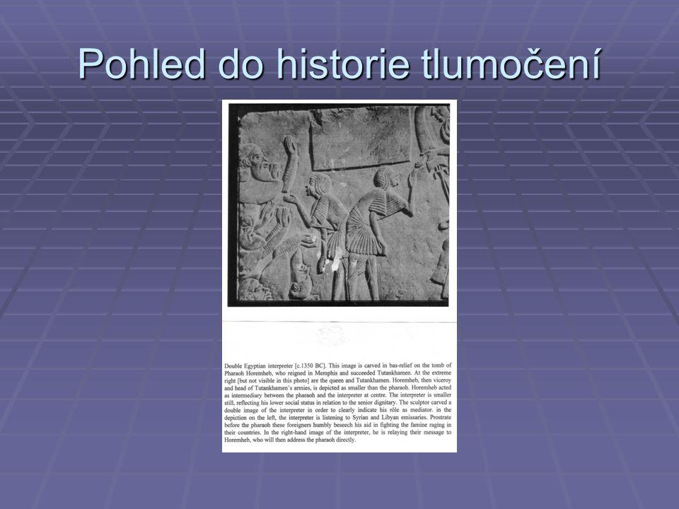 Pohled do historie tlumočení
