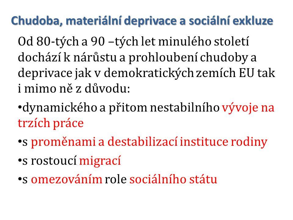 Národní akční plán sociálního začleňování na léta 2008–2010 Prioritní cíl 2 Rodiny se specifickými potřebami, které jsou sociálně vyloučené nebo ohrožené sociálním vyloučením Z důvodu nezaměstnanosti či obtížného uplatnění člena/ů rodiny, nízkého příjmu, nerovného přístupu ke vzdělání a z toho plynoucí ztížené dostupnosti obvyklých společenských zdrojů, jako např.
