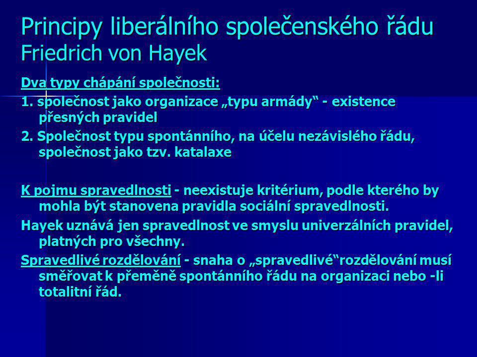 Friedrich von Hayek 1899 - 1992 1921 získal doktorát práv a 1925 doktorát politických věd 1929 habilitoval a přednášel ekonomii na vídeňské universitě
