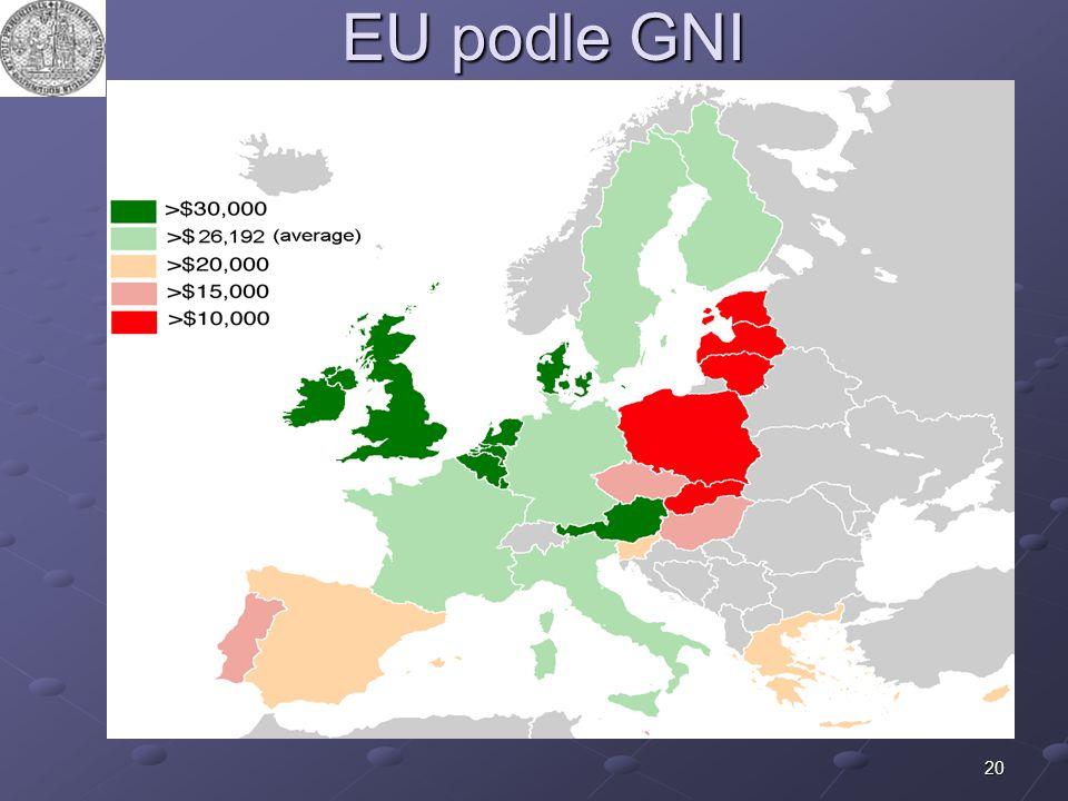 20 EU podle GNI